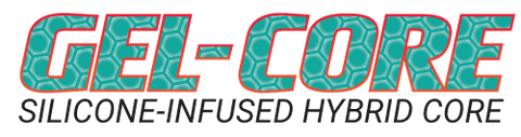 gel-core silicone-infused hybrid core for pickleball paddles