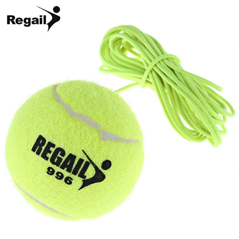 Tennis Practice - Drill Exercise Trainer With String Replacement Rubber Neon Green