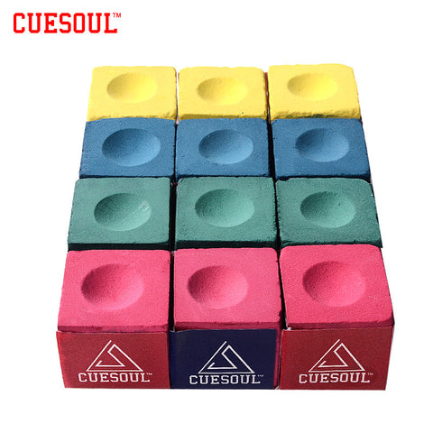 Cue tip Chalk in 4 Colors. Cuesoul 3 pcs/set Billiard Chalk Snooker, Pool, Cue Chalk Pink Green Blue Yellow