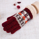 Gloves - Women - one Size - Knitted Soft Warm - 6 Fashion Color Styles