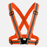 Safety Glow Vest Belt - 2 Color Choices - High Visibility - Biking - Hiking - Hunting - Night Work - Walking
