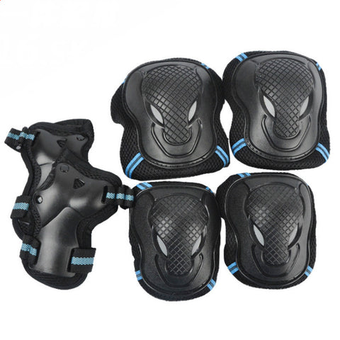 6 Piece Set - S M L - Hand Wrist Elbow Knee Protective Pads - Roller Skating Skateboarding Skiing Biking Sports Gear Safety Pads