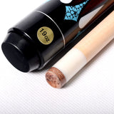 Billiard Cue Pool Stick & Case - Cuesoul - 19oz. Maple - 13 mm cue tip - 5 Artistic Design choices - 2 piece 1/2 jointed