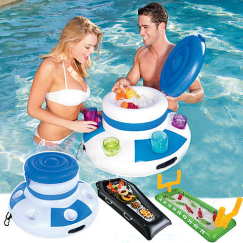 Inflatable Ice Bucket - Buffet - Float - For Drinks - Food - Water Fun - Pool - Lake - Beach - River - Party