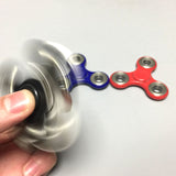 Tri-Spinner Fidgets - Plastic EDC Sensory Fidget Spinner For Autism and ADHD Kids/Adult Anti Stress