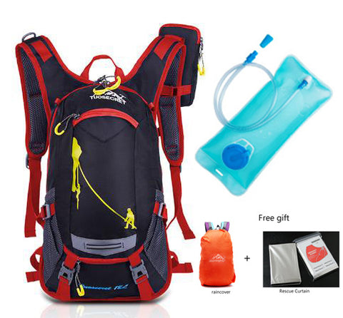 18L Waterproof Backpack for camping, Hiking, Cycling, Climbing, Sports, Travel - Option of 2L Water Bag for Drinking