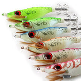 24 Pcs - Glow in the Dark - Saltwater Fishing Lures - Squids - Jigs -  Artificial Bait
