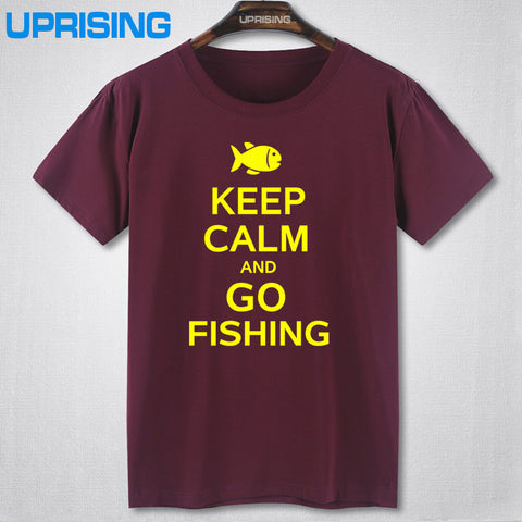 Keep Calm and Go Fishing T-Shirt Several Sizes and Colors Available - Cotton - short Sleeve