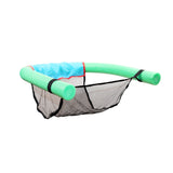 Foam Noodle with Mesh Seat - Kick back and relax in the pool, Lake, River, or ocean.  5 Color Choices - Great gift for Summer