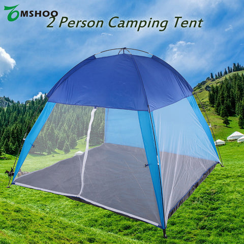 2 Person Camping Picnic Sun Shelter Tent - Mesh Mosquito barrier - Portable for Beach, Lake, Hiking, Camping, Back Packing