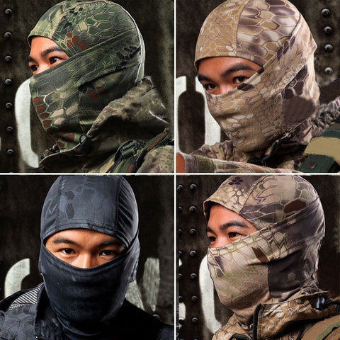 Mask - Face - Head Gear - Tactical - Camouflage - 9 Color Styles - Balaclava - Motorcycle - Ski - Cycling - Hunting