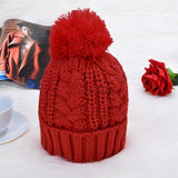 Hat & Scarf - 2 piece Set - Knitted Winter Fashion