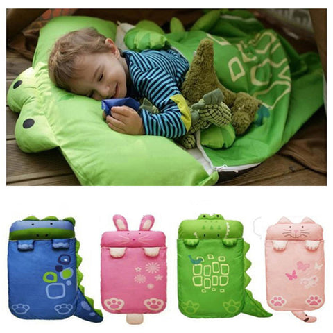 Sleeping Bag - Blanket - Small Children under 3 - Compact for Travel - School - Camping - Nap Time - 4 Animal Color Choices