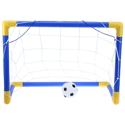 Soccer Set -Goal Post + Net + Ball + Pump. Portable - Safe Outdoor Indoor Kids Children Toy