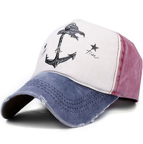 Hat - Baseball cap. old pirate ship anchor hat, 6 colors unisex adjustable