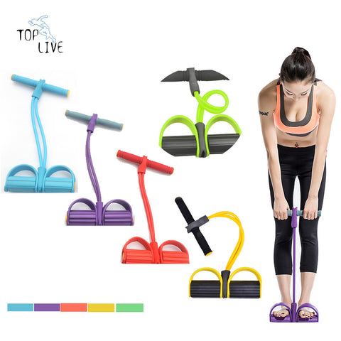 Workout Companion - Resistance Bands - Hand Grips - Foot Holders - Exercise - Condition - Fitness - Anywhere - Travel - Office