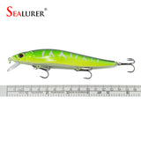 Fishing Lure - Minnow - Hard Bait with 3 Fishing Hooks Fishing Tackle Lure 3D Eyes
