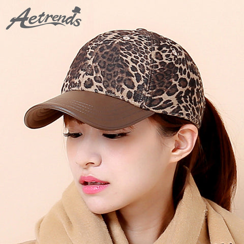 Hat - Leopard Design - 4 Color Styles - Very Fashionable - Women - Girls - Animal Lovers