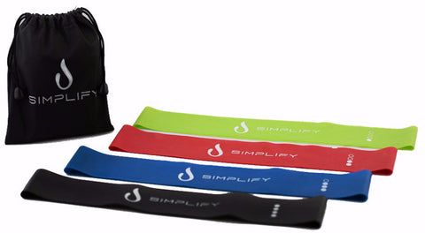 Exercise Bands - 4pc Set with Travel Bag