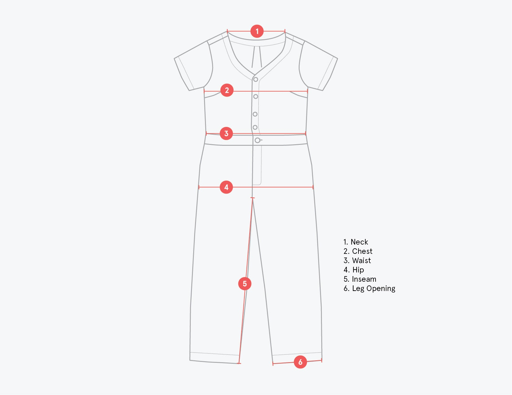 Jabali Jumpsuit Technical Drawing