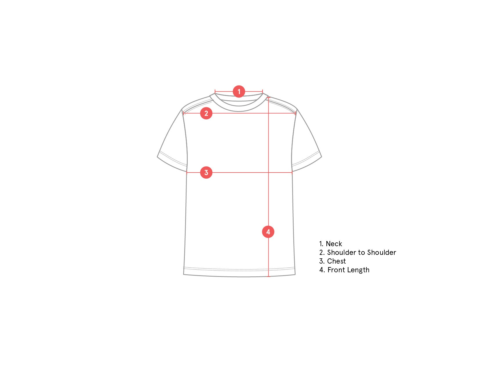 T-Shirt Technical drawing