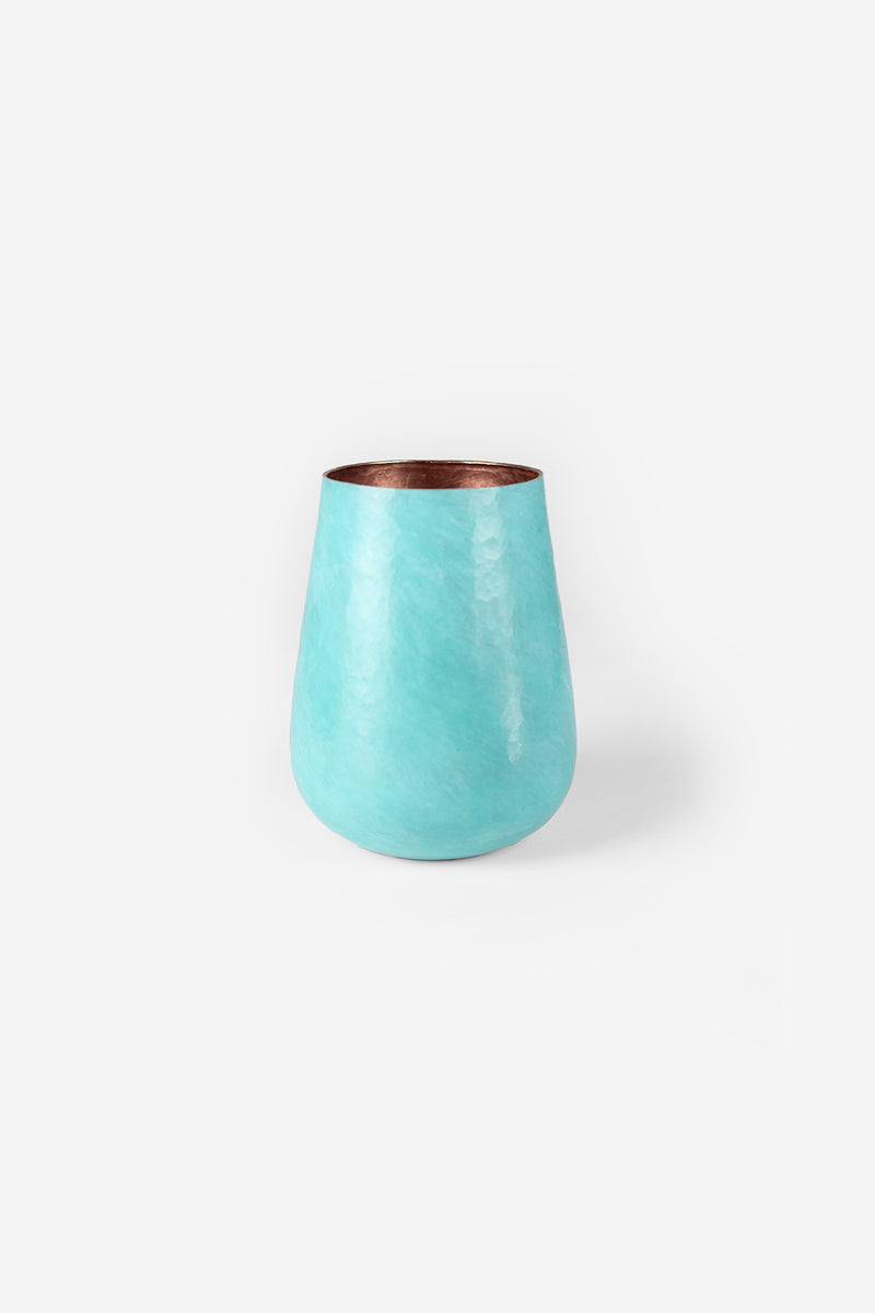 Estudio Pomelo Copper Vase Medium Oxido Front