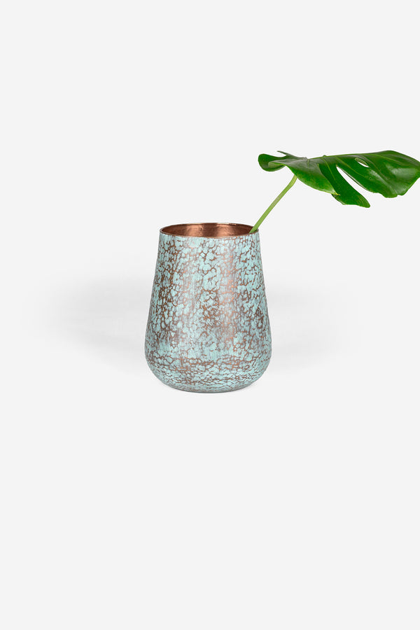 Estudio {pomelo Copper Vase Medium Raspado Detail 2