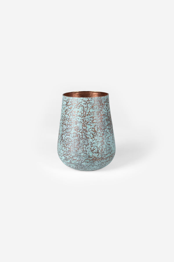 Estudio Pomelo Copper Vase Medium Raspado Front