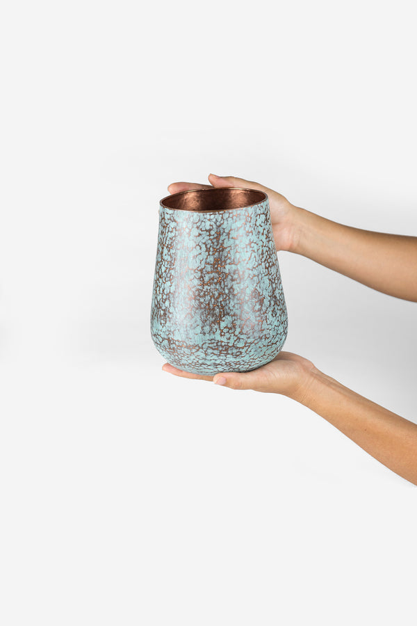 Estudio Pomelo Copper Vase Medium Raspado Look Book