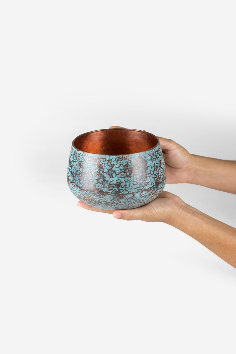 Estudio Pomelo Copper Vase Small Raspado Look Book