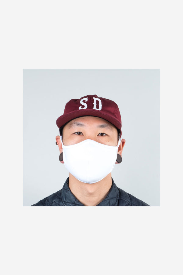 Quarantine Face Mask White Look Book Male 1