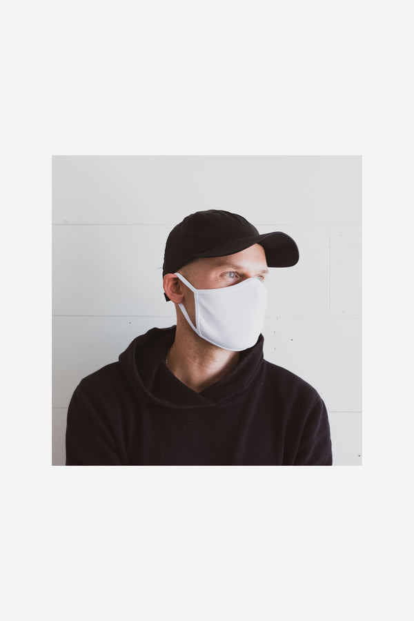 Quarantine Face Mask White Look Book Male 2
