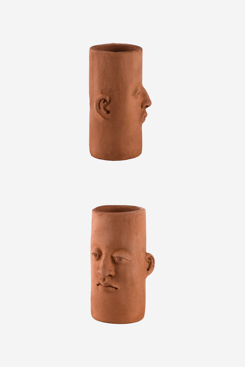 Head Planter Pottery Alta Roja Details