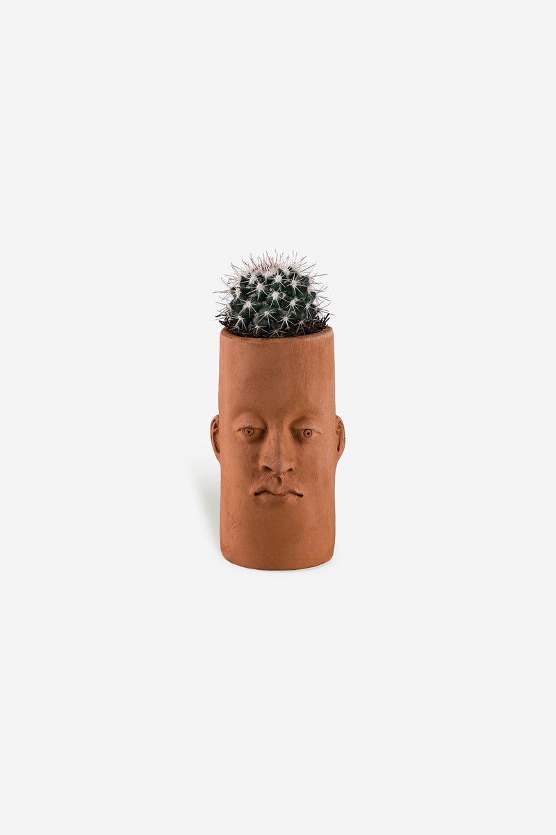 Head Planter Pottery Alta Roja Front