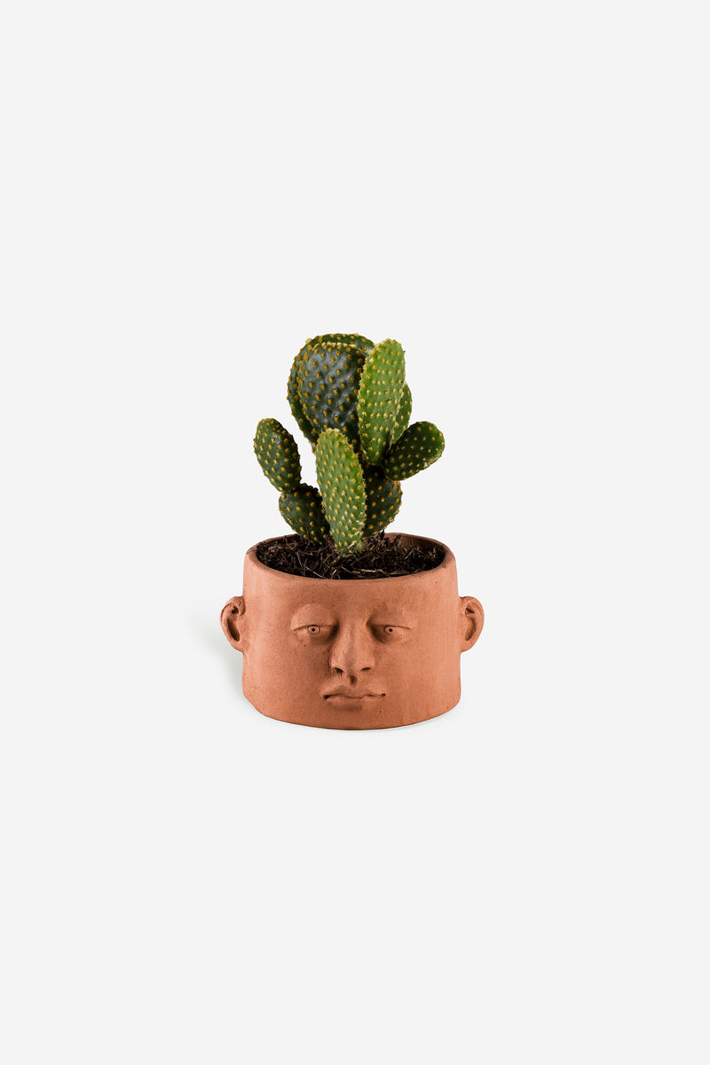 Head Planter Pottery Chaparra Roja Front
