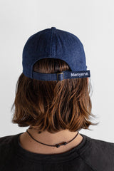 Manyana Sun Logo Hat Denim Look Book Male Back