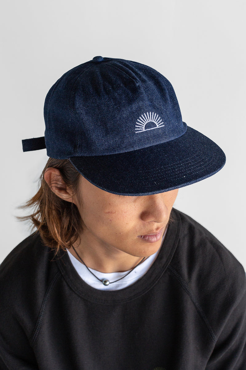 Manyana Sun Logo Hat Denim Look Book Male Front