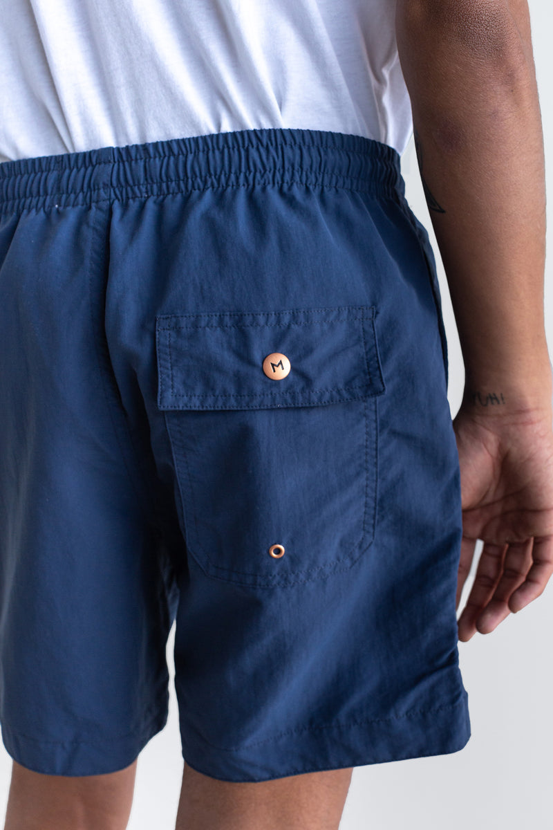 Manyana Swim Shorts Ser Navy Look Book Male Back Detail