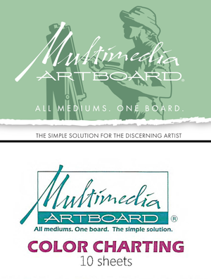 Multimedia Artboard Color Charting Sheets