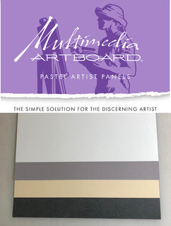 "Multimedia Artboard Pastel Panels On 1/8"" Sintra - 320 Grit - 2 pack"