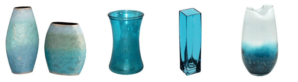 Teal Vases for Flowers