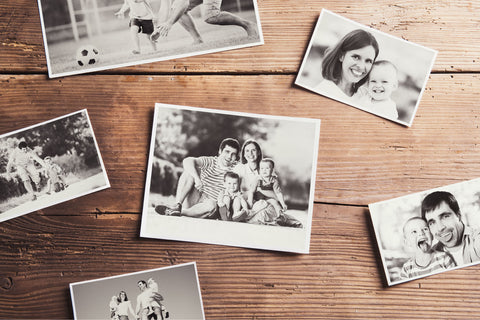 family photos create warm interior