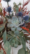 Textured Teal and Coral Roses - God's Garden Treasures