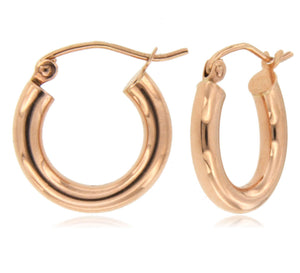 Name?- 14k Rose Gold Hoop Earring ☉Micro Collection☉