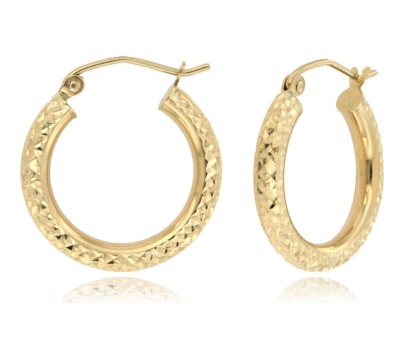 Classic and Dazzling 14k Yellow Gold Hoop Earrings ⊶Various Sizes Available⊷