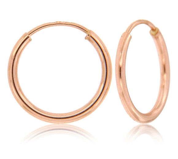 Everyday Infinity 14k Rose Gold Hoop Earrings ⊶Various Sizes Available⊷ ☉Micro Collection☉