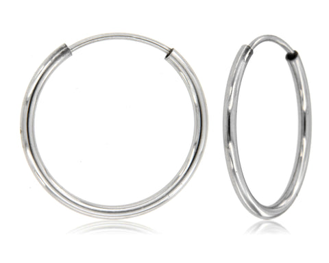 Infinity Elegance 925 Sterling Silver Hoops (Small)