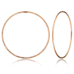 Classy diamond cut rose gold bangle