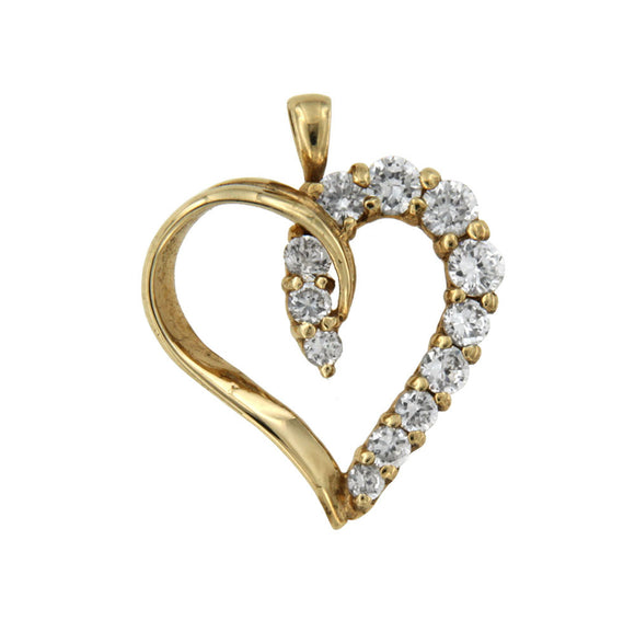 Piece of my Heart 10k Yellow Gold Pendant