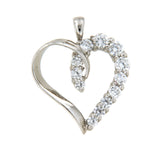 Piece of my Heart 10k White Gold Pendant